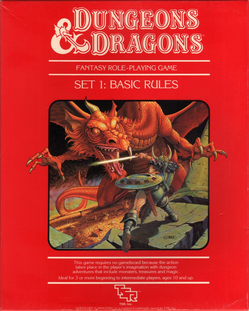 D&D Editions: Dungeons & Dragons Red Box Basic Set (1977-1995 ...