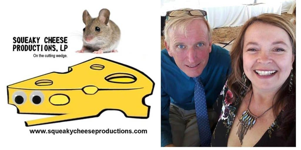 Ralph Scott, Kendra Murray (the 2-shot selfie next to cheese logo) Credit: Squeaky Cheese Productions, LP